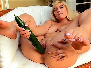 Ass, Big Tits, Blonde, Clamp, Close Up, Cute, Fetish, Food, Insertion, Jerking,