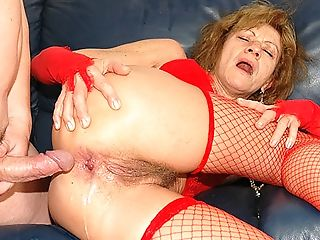 Anal Sex, Granny, Hairy, Old,