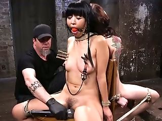 BDSM, Bondage, Boobless, Ethnic, Gagging, Nipples, Rough, Sex Toys, Slut, Torture,