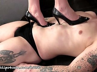 Femdom, Foot Fetish, HD, Mature, Mistress, Muscular, Submissive, Trampling,