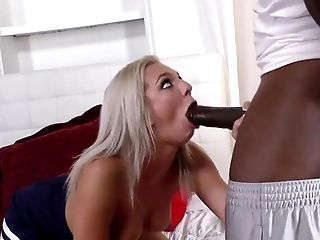 Behind The Scenes, Big Black Cock, Big Cock, Blonde, Blowjob, Bold, Caucasian, Cheerleader, Choking Sex, Couple,