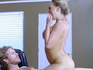 Ass, Beauty, Big Tits, Blonde, Blowjob, Boss, Cowgirl, Fake Tits, Footjob, Hardcore,