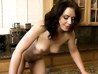 Beauty, Brunette, Cute, Horny, Jerking, Kitchen, Masturbation, Sarah Shevon, Sexy, Slut,