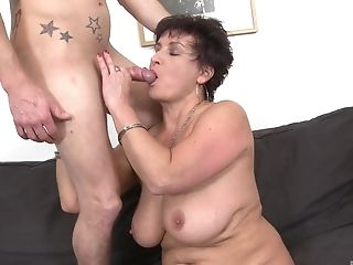 Amateur, Aunt, Blowjob, Couch, Cum On Ass, Cumshot, Mature, Mistress, Moaning, Mom,