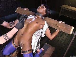 Ana Foxxx, BDSM, Black, Bondage, Jerking, Rough, Submissive,
