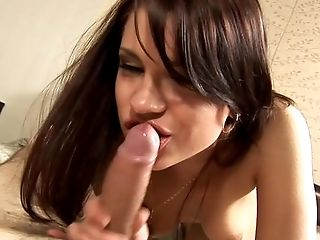 Blowjob, Bold, Brunette, Caucasian, Couple, Cumshot, Cute, Deepthroat, Dick, Ethnic,