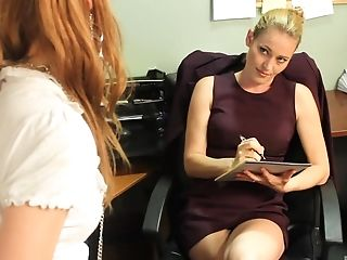 Daisy Layne, Lesbian, Long Hair, Office, Pepper Kester, Pornstar,