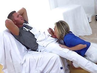 Big Tits, Blonde, Blowjob, Cum On Tits, Cum Swapping, Dick, Fake Tits, Handjob, HD, Mature,