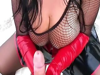 Amateur, Big Tits, Blowjob, Brunette, Cum, Fishnet, German, Gloves, Handjob, Outdoor,