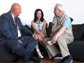 Couch, Couple, Old, Young,