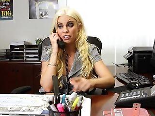 Britney Amber, Lesbian, MILF, Miniskirt, Office, Ponytail, Pornstar, Slut, Threesome,