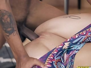 Ass, Big Black Cock, Big Cock, Blonde, Blowjob, Clothed Sex, Couple, Cowgirl, Cute, Doggystyle,