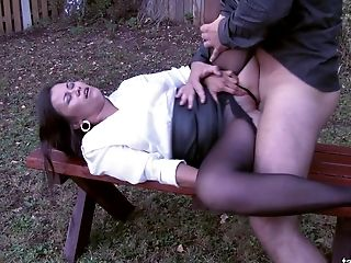 Ass, Babe, Blowjob, Bobcat, Brunette, Clothed Sex, Couple, Doggystyle, Experienced, Hardcore,