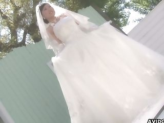 Blowjob, Bride, Clothed Sex, Couple, Cum Swallowing, Deepthroat, Ethnic, Hairy, HD, Japanese,