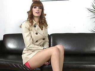 Babe, Brunette, Carol Vega, Casting, Couch, Cute, European, Legs, Long Legs, Money,