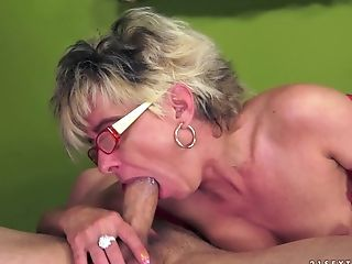 Big Ass, Big Tits, Blonde, Blowjob, Cumshot, Facial, Granny, Old And Young, Short Haired,
