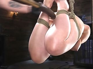 BDSM, Big Tits, Bondage, Brunette, Carmen Valentina, Dildo, Dungeon, HD, Kinky, Moaning,