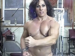 Bodybuilder, Boobless, Female Bodybuilder, Fitness, Gym, Mature, Muscular, Nude,