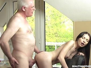 Amateur, Blowjob, Boobless, Brunette, Cowgirl, Dick, Doggystyle, Felching, Long Hair, Moaning,