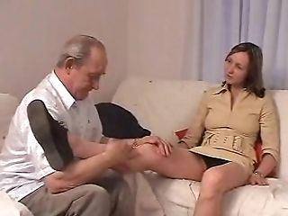 Blowjob, Couple, Dick, Hardcore, Old, Uniform, Young,