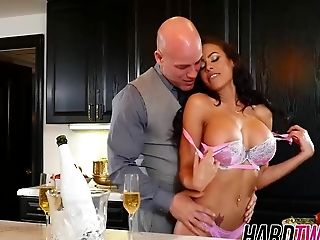 Big Tits, HD, Kitchen, MILF, Rough,