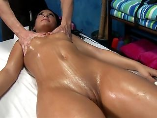 Ass, Babe, Bold, Massage, Natural Tits, Oiled, Pussy, Spreading, Teen, Wet,