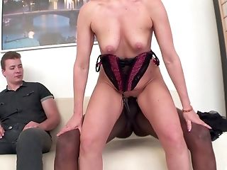 Big Black Cock, Big Cock, Blonde, Blowjob, Couple, Cowgirl, Cuckold, Cum, Cumshot, Doggystyle,